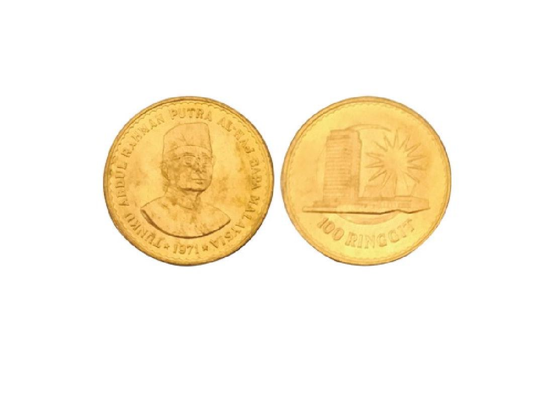 MALAYSIA 1971 100 Ringgit  917 Gold Coin