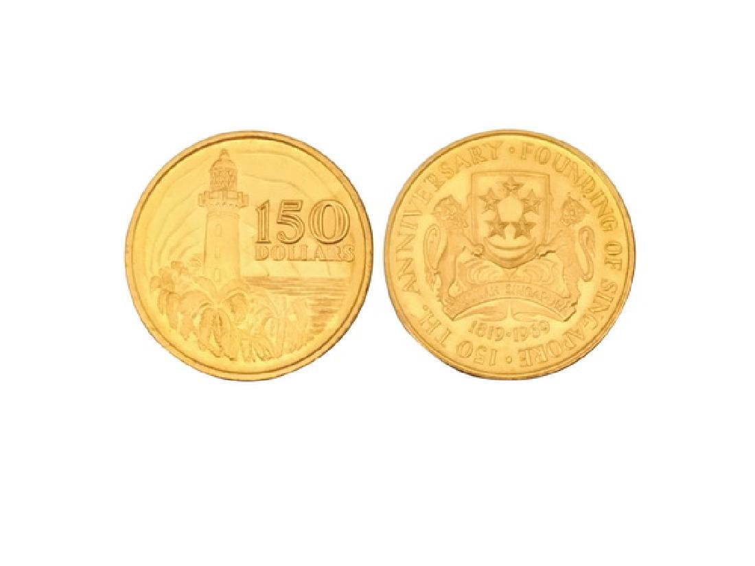 SINGAPORE 1969 150 Dollars 24.883g .916 Gold Coin