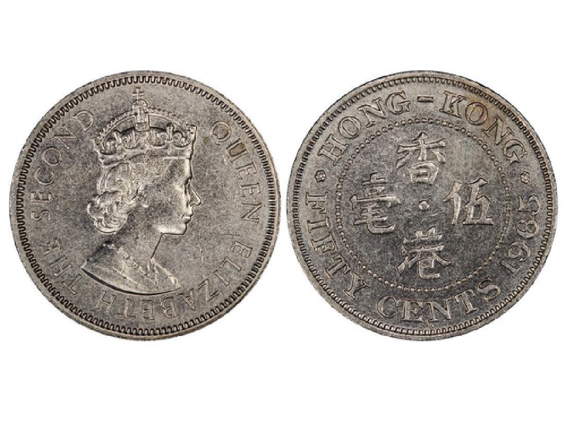 CHINA-HK 1965-KN 50 Cents Copper-Nickel Specimen