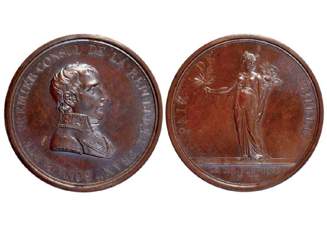 FRENCH 1801 Copper Medal, UNC