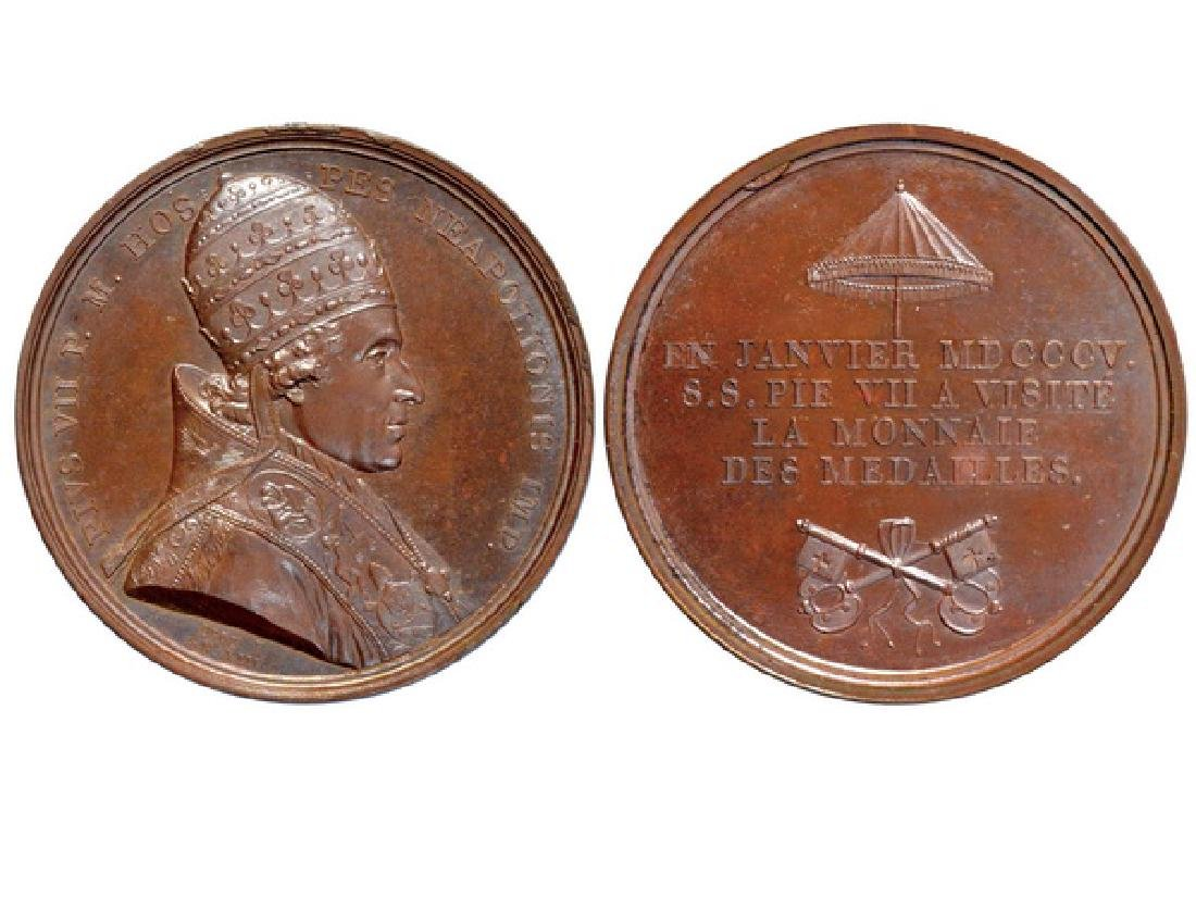 FRENCH 1805 Bronze Medal, UNC
