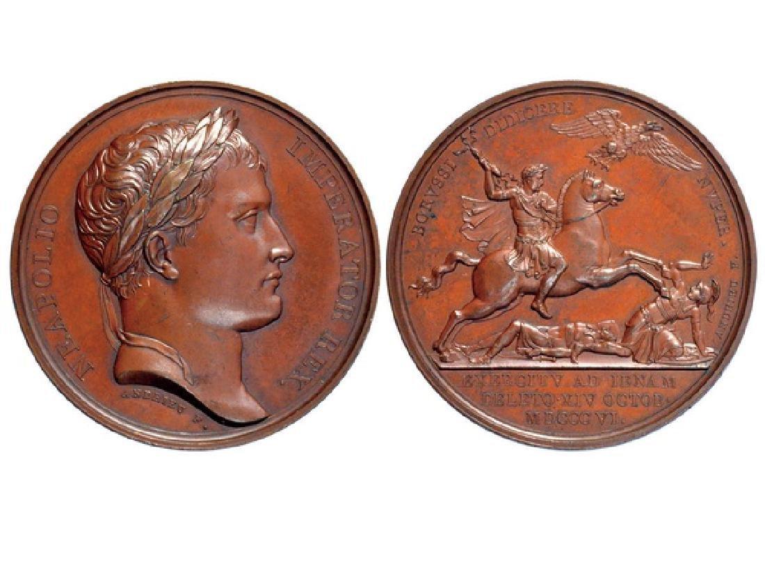 FRENCH 1806 Bronze Medal, Napoleon XF