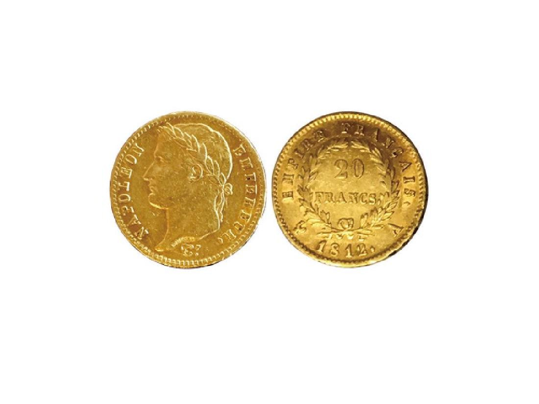 FRANCE 1812 AV 20 Francs Gold Coin, AU