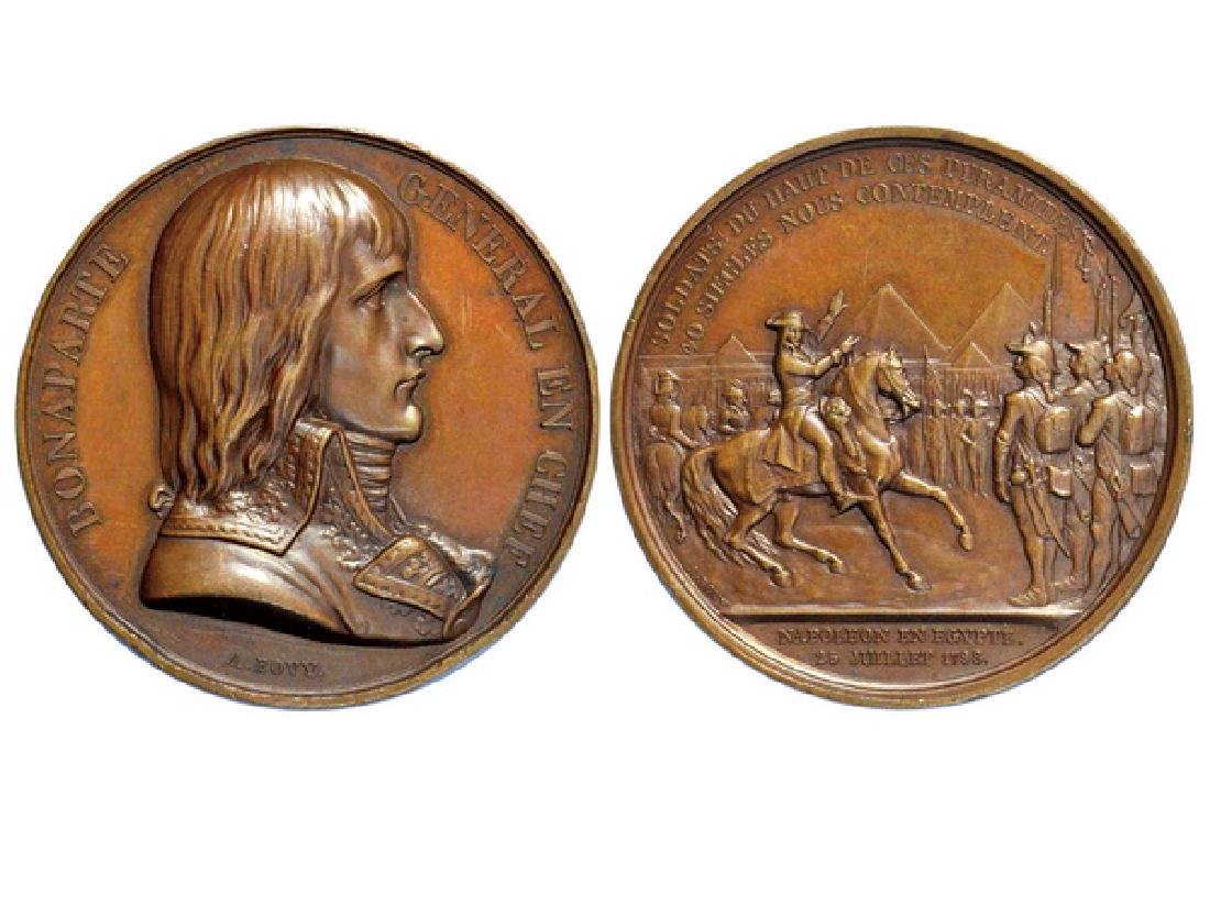FRENCH 1798 Copper Medal Bonaparte-Conquest of Egypt