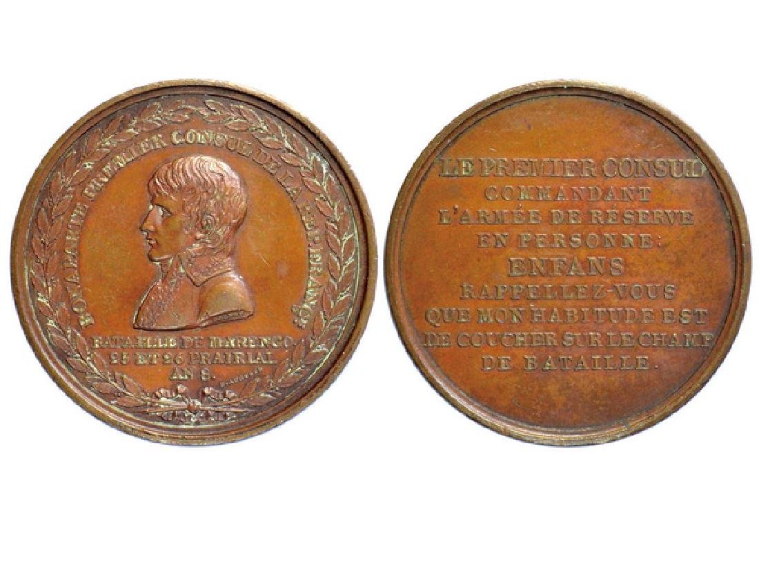 FRENCH ND Bronze Medal, Napoleon Bonaparte