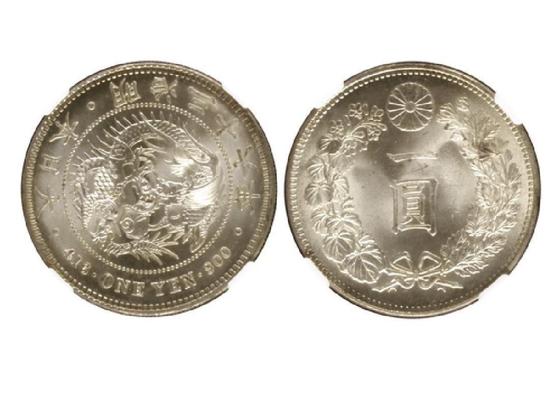 JAPAN 1903(M36) One Yen Silver, NGC MS65