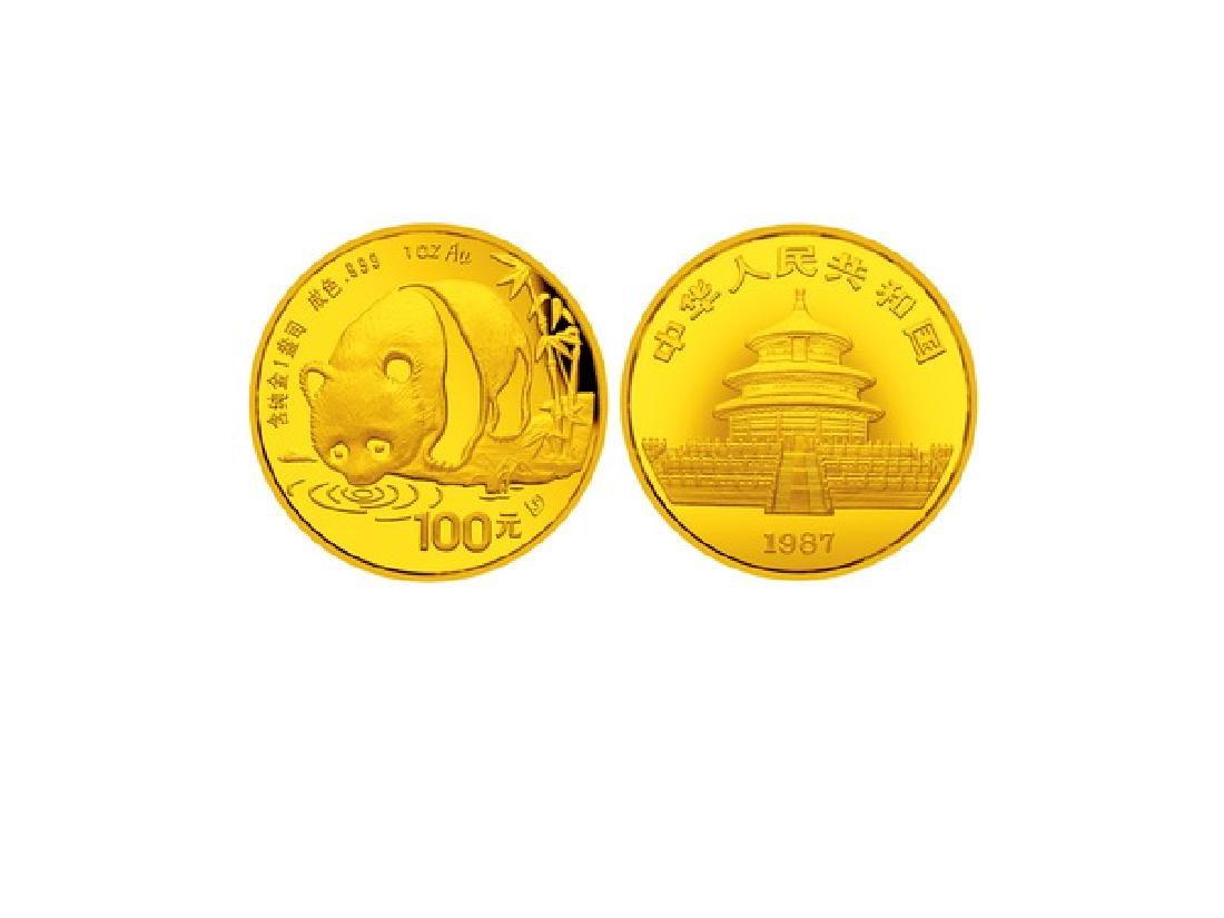 CHINA 1987S Panda 100 Yuan .999 Gold