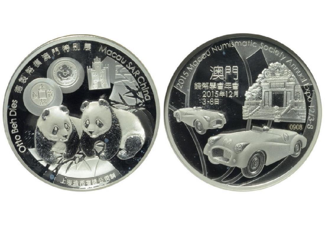 CHINA-2015 Macau Numismatic Society 2 Oz Silver