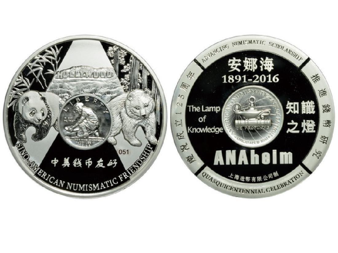 CHINA 2016 ANA World's Fair of Money Anaheim Silver