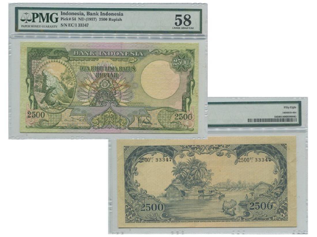INDONESIA ND(1957) Bank Indonesia 2500 Rupiah (EC/1 - 2