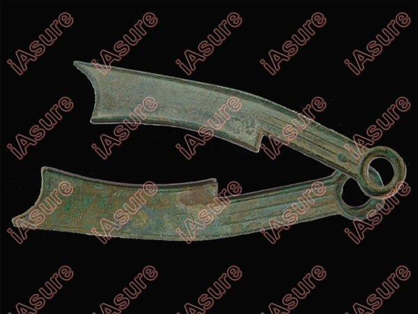 003: CHINA-ZHOU 400-300BC Qi Fa Hua Knife Coin