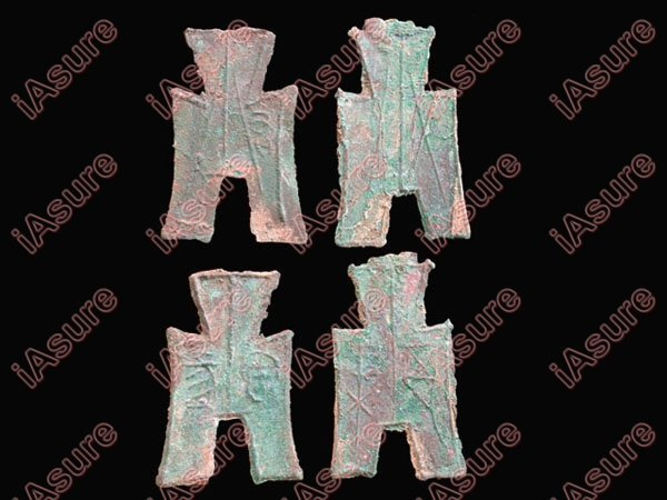 005: CHINA-WARRING STATES Square Foot Spade Coins(5)