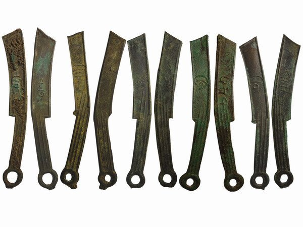 001: CHINA-ZHOU Dynasty Ming Knife Coins(5)
