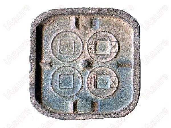 014: CHINA-EAST HAN Dynasty Wu Zhu Copper Mold, VF