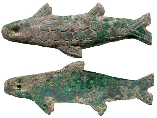 503: CHINA WARRING STATES Fish Shaped Coin VF