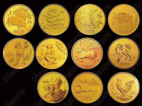 605: CHINA 1981-1992 Zodiac Gold Proof (11)