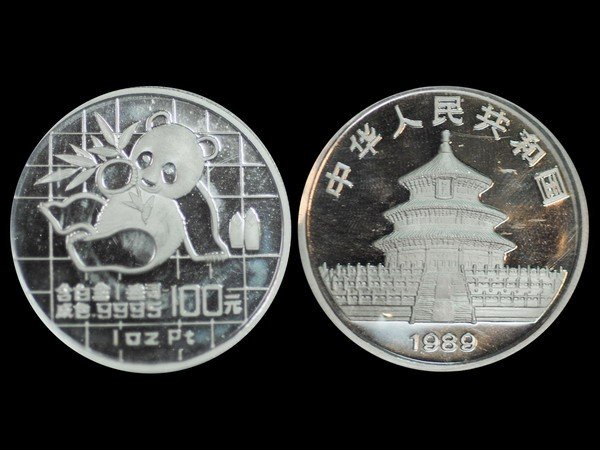 620: CHINA 1989 Panda 100 Yuan 1 Oz Platinum Proof