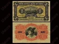 090: CHINA 1924 Mercantile Bank of India - Shanghai $1