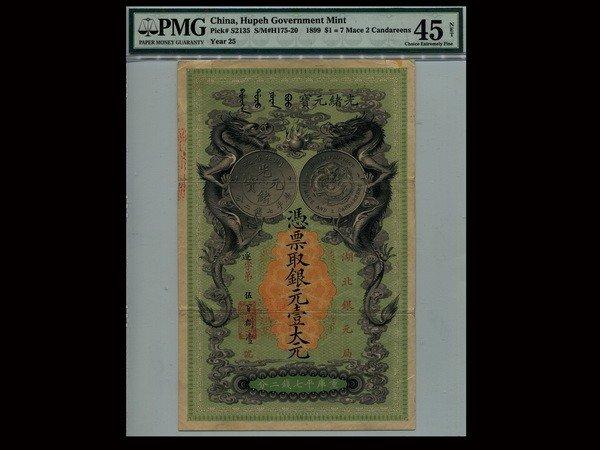 176: CHINA 1899 Hupeh Government Mint $1