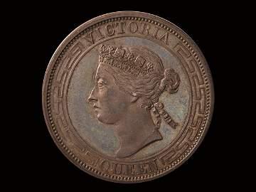 510: CHINA-HONG KONG 50 Cents Silver Pattern, NGC PF64