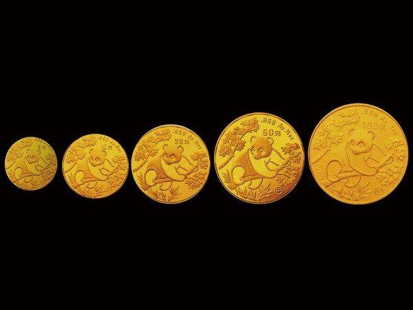 1015: CHINA 1992 5-piece Gold Panda[P] Proof Set