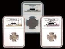 CHINA Copper and Silver Coins 3