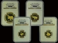CHINA 1981 Bronze Age [series I] Gold Proof Set(4)