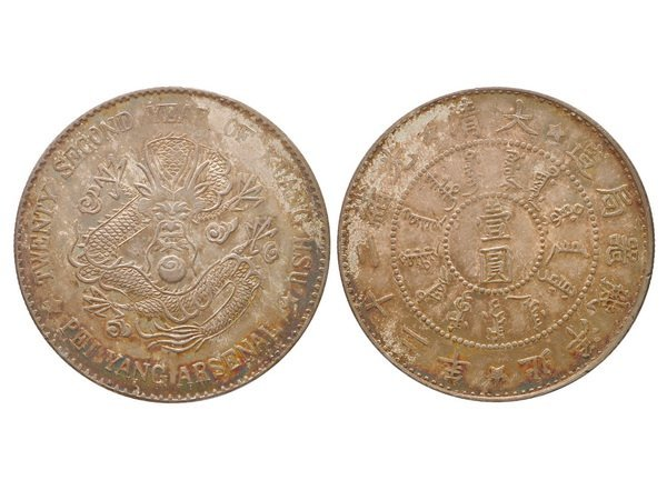 CHINA-CHIHLI 1896 One Dollar Silver, NGC MS63