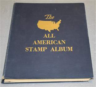 All American Stamp Album with U.S. Stamps
