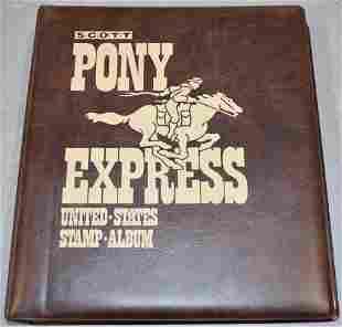 Scott Pony Express Album with U.S Stamps