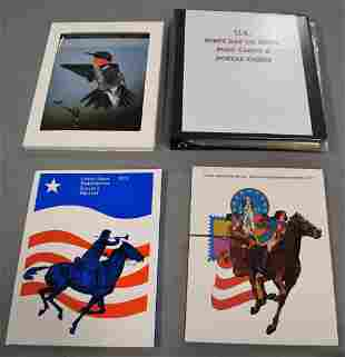 Album with U.S. First Day Covers and Postcards