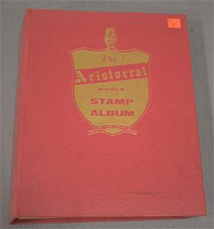 Aristocrat Stamp Album with Foreign Stamps