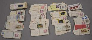 (4) Boxes of Used U.S. Stamps