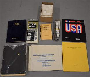 Box of Supplies for Postage Stamp Collectors