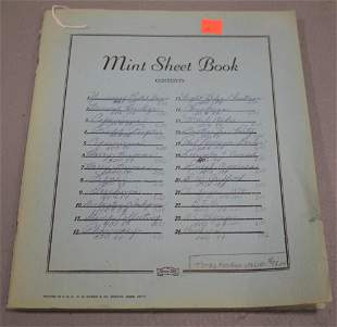 Mint Sheet Blue Book of U.S Stamps