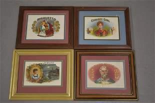 Lot (4) Framed Cigar Labels