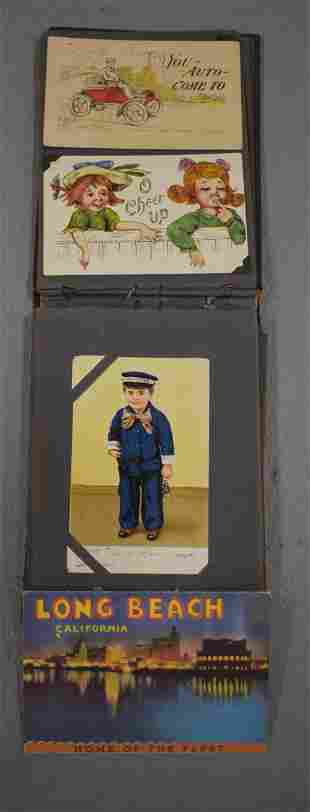 Post Card Albums with Vintage Funny Cards