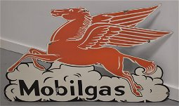 Enamel Mobil Gas Sign with Pegasus
