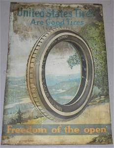 Vintage United States Tire Tin Advertising Sign