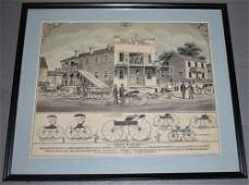 Framed Fred Roschy Carriage Works Advertisment