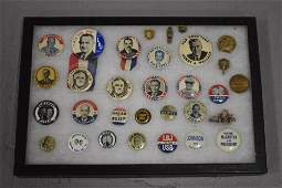 Lot 31 Political Pin Back Buttons and Items
