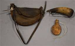 3 Piece Early Hunting Gear EARLY LEATHER HANDLED BAG