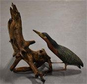 McCarthy Carved Bird on Driftwood