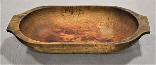 """19"""" Wooden Trencher Bowl"""