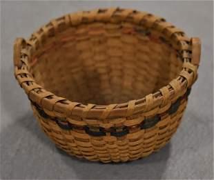 Painted Miniatuer Woven Basket
