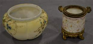 Wavecrest Jar and Melon Rib Bowl
