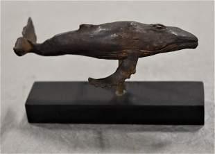 "3"" Bronze Humpback Whale Figure"