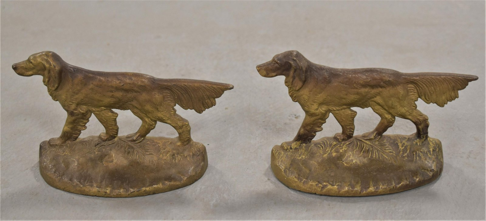 Pair of Painted Cast Iron Dog Bookends