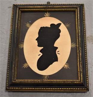 19th Century Cut Paper Silhouette