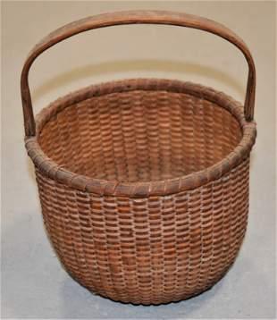 Early Nantucket Lightship Basket
